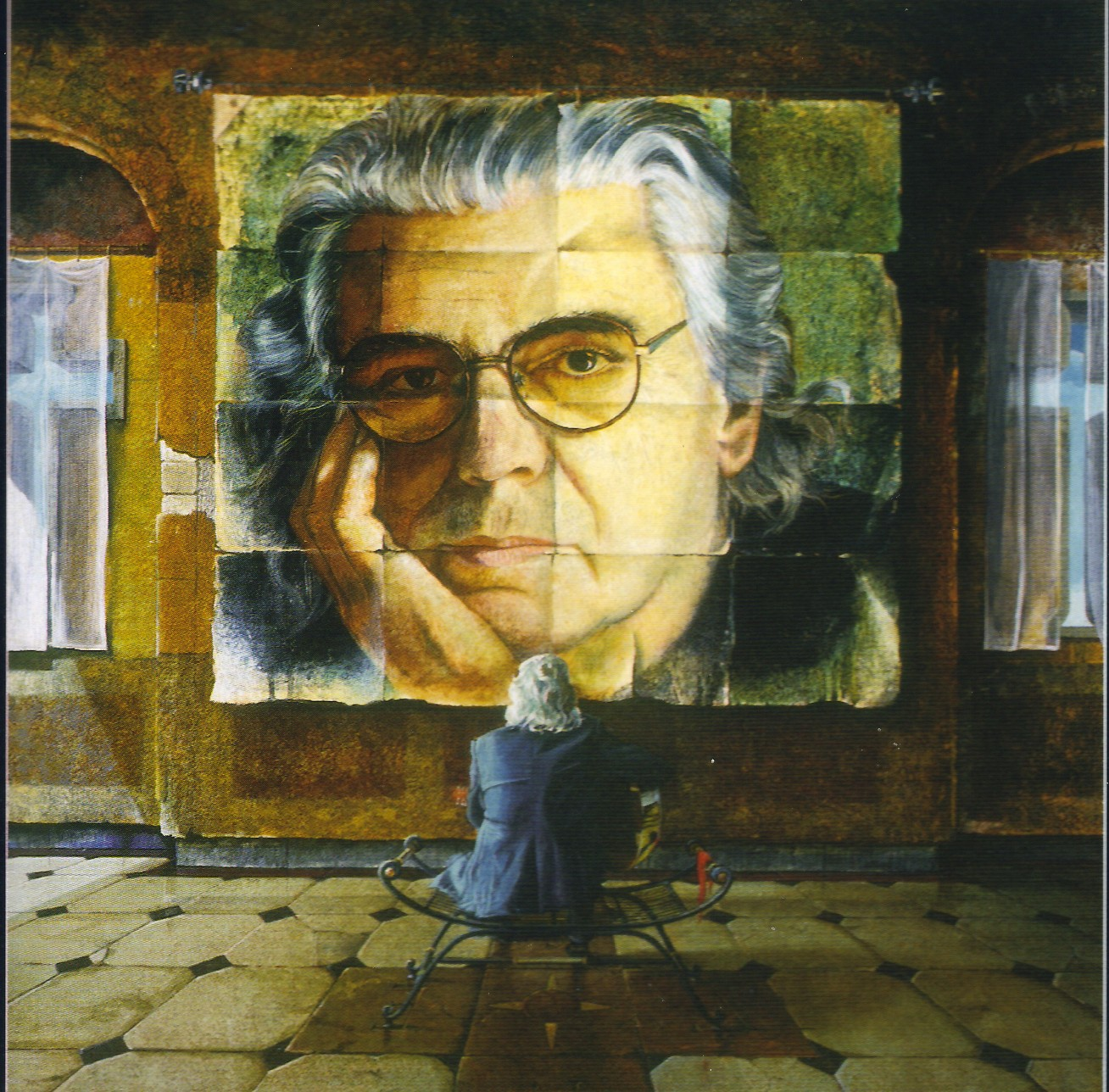 "The painting of Tim that was intended as the album cover for ""American Son"""