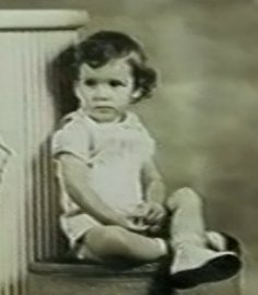 "Tim as a toddler (taken from the film ""Where Was I?"" by Jacques Laureys)"