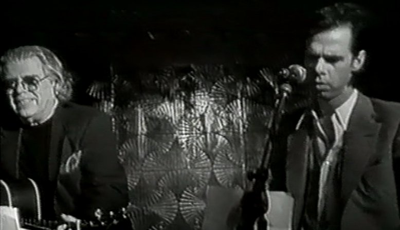 "Tim performing alongside Nick Cave (taken from the film ""Where Was I?"" by Jacques Laureys)"