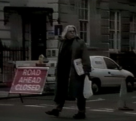 "Tim walking near his London home (taken from the film ""Where Was I?"" by Jacques Laureys)"